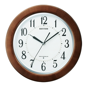 <title>15:00迄のご注文で最短当日出荷 在庫商品に限る リズム時計工業 RHYTHM 電波掛時計 リバライトF461SR 8MY461SR06 セール価格</title>