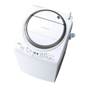 東芝【代引・日時指定不可】洗濯8.0kg・乾燥4.5kg タテ型洗濯乾燥機 ZABOON AW-8V7-S★【AW8V7S】