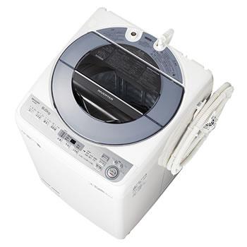 シャープ【SHARP】洗濯8.0kg 全自動洗濯機 ES-GV8C-S(シルバー系)★【ESGV8CS】