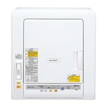 シャープ【SHARP】乾燥容量6.0kg 衣類乾燥機 ホワイト系 KD-60C-W★【KD60CW】