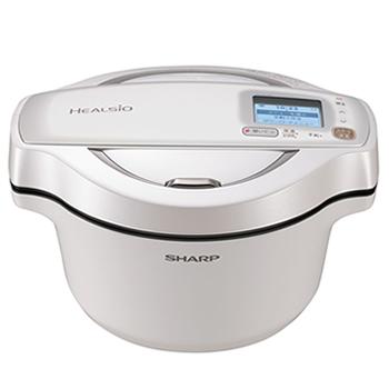 シャープ【SHARP】1.6L 水なし自動調理鍋 ヘルシオ ホットクック KN-HW16D-W(ホワイト系)★【KNHW16DW】
