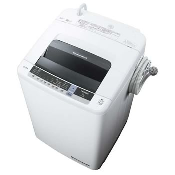 日立【HITACHI】8.0kg 全自動洗濯機 シャワー浸透洗浄 白い約束 ピュアホワイト NW-80C-W★【NW80CW】