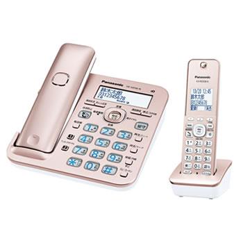パナソニック【RU・RU・RU】コードレス電話機 ル・ル・ル 子機1台付き VE-GD56DL-N★【ピンクゴールド】