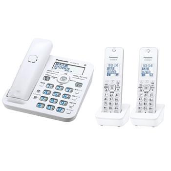 パナソニック【RU・RU・RU】コードレス電話機 ル・ル・ル 子機2台付き VE-GD56DW-W★【ホワイト】