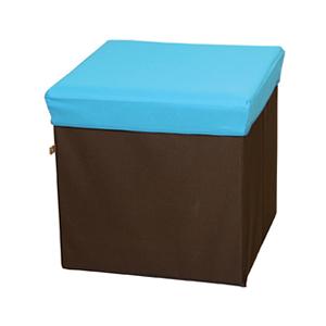 15:00迄のご注文で最短当日出荷 在庫商品に限る 東谷 直営ストア ROOM ESSENCE 折りたたみ式BOXスツール スーパーセール期間限定 生活雑貨 スクエア正方形 BLC-378BL ブルー 収納ボックス