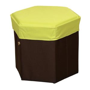 15:00迄のご注文で最短当日出荷 在庫商品に限る 東谷 AZUMAYA WEB限定 折りたたみ式BOXスツール 毎日激安特売で 営業中です ヘキサゴン6角形 グリーン BLC-379GR 収納ボックス 生活雑貨 under2000