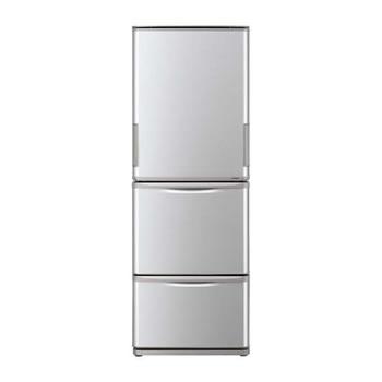 シャープ【代引・日時指定不可】350L 3ドア冷蔵庫 SJ-W351E-S(シルバー系)★【SJW351ES】