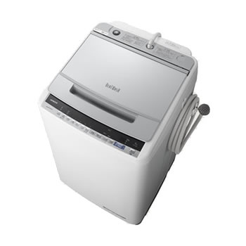 日立【HITACHI】9kg 全自動洗濯機 ビートウォッシュ シルバー BW-V90E-S★【BWV90ES】