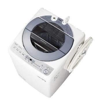 シャープ【SHARP】8kg 全自動洗濯機 シルバー系 ES-GV8D-S★【ESGV8DS】