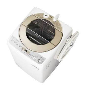 シャープ【SHARP】9kg 全自動洗濯機 ゴールド系 ES-GV9D-N★【ESGV9DN】