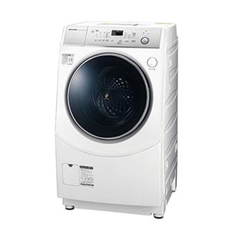 シャープ【代引・日時指定不可】洗濯10kg 乾燥6kg ドラム式洗濯乾燥機 ES-H10C-WL★【左開き】