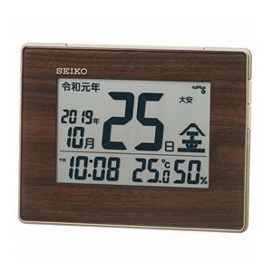 15:00迄のご注文で最短当日出荷 在庫商品に限る 定番 セイコー SEIKO 電波時計 掛置兼用カレンダー表示付 ※アウトレット品 SQ442B