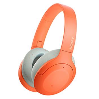 ソニー【SONY】h.ear on 3 ノイキャンWirelessヘッドセット オレンジ WH-H910N-D★【ワイヤレスヘッドホン】