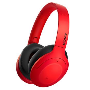 ソニー【SONY】h.ear on 3 ノイキャンWirelessヘッドセット レッド WH-H910N-R★【ワイヤレスヘッドホン】