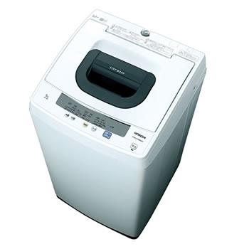 日立【HITACHI】5.0kg 全自動洗濯機 ピュアホワイト NW-50E-W★【NW50EW】