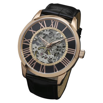 サルバトーレマーラ【Salvatore Marra】腕時計 手巻き 革ベルト SM16101-PGBK★【正規品】