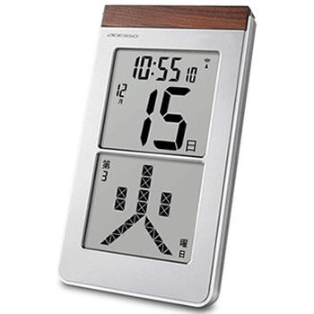 ストアー 15:00迄のご注文で最短当日出荷 在庫商品に限る アデッソ ADESSO メガ曜日日めくり電波時計 トラスト 掛け置き兼用時計 HM301 電波クロック HM-301