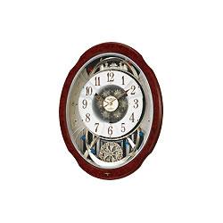 リズム時計工業【シチズン】スモールワールドブルームDX★電波からくり時計【4MN499RH23】
