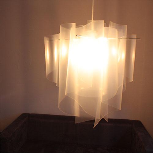 Auro M/pendant lamp ice・white【TC】【DIC】〔ペンダントライト 天井照明〕
