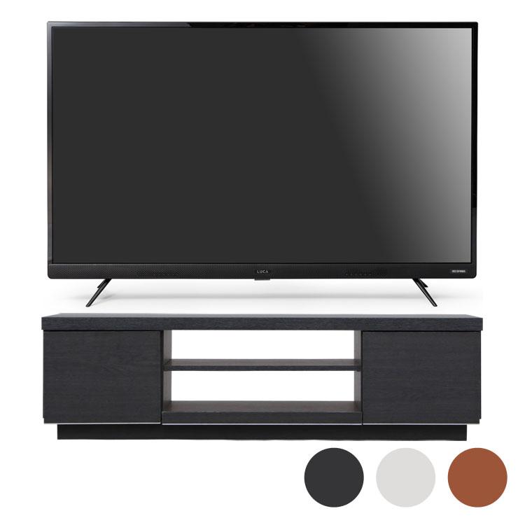 4Kテレビ フロントスピーカー 43型 テレビ台 BAB100送料無料 テレビ テレビ台 セット TV 4K 43V 43型 黒 引き出し アイリスオーヤマ