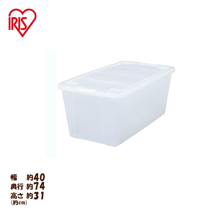 アイリスオーヤマ キャリーストッカー AA-740 クリア整理ボックス タンス 押入れ クローゼット 衣装ケース クリアボックス クリアケース[2012X]