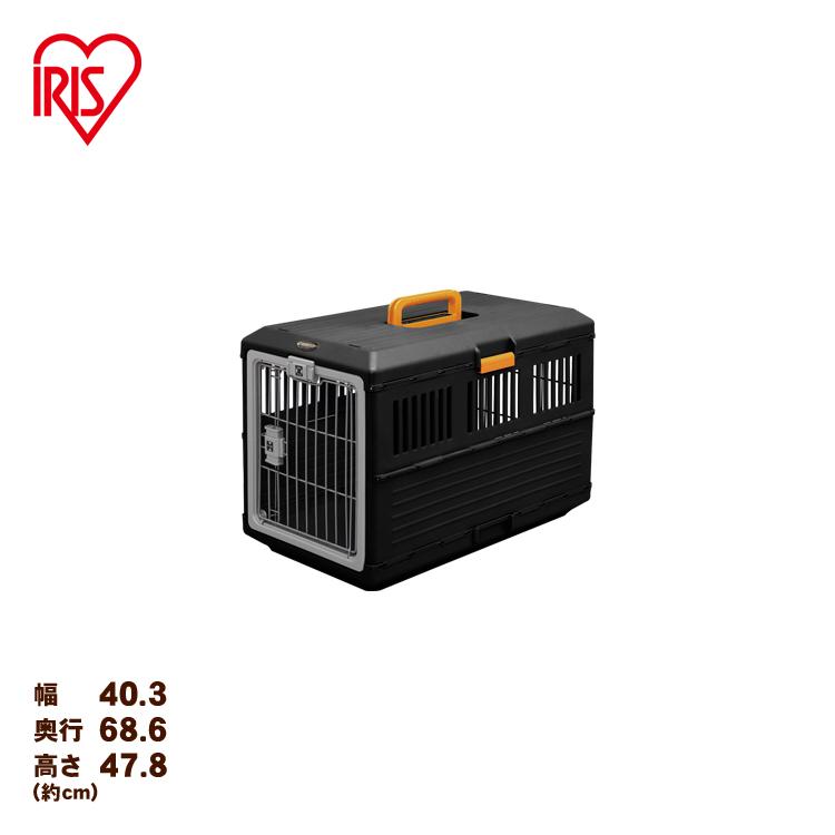 アイリスオーヤマ 卸直営 折りたたみペットキャリー 通販 FC-670 オレンジ ブラック