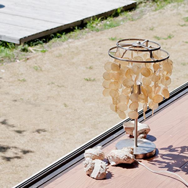 Kadenrand Shell Table Lamp Mini Capiz Shell Lcpl 0009 Natural