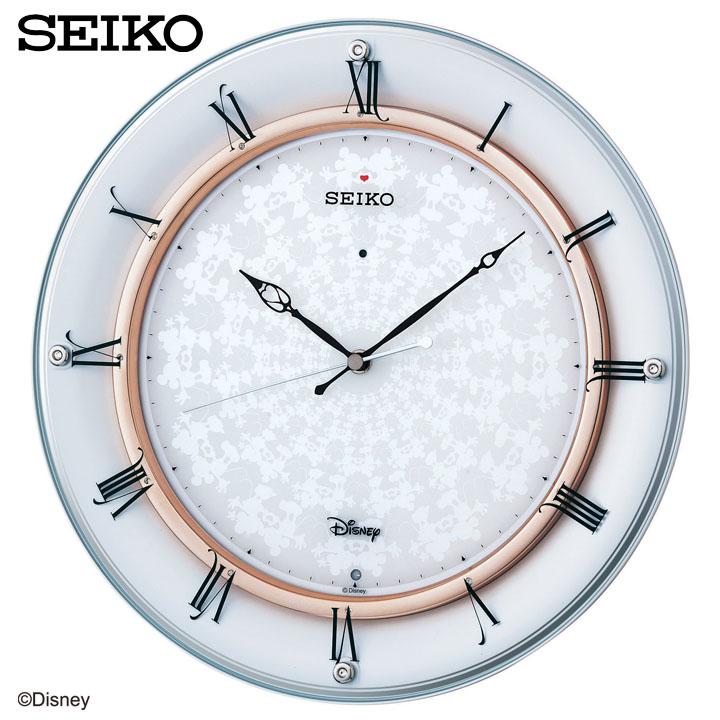 SEIKO〔セイコー〕Disney 掛け時計 FS501W送料無料 ディズニー ミッキー ミニー 壁掛け時計 掛時計 時計 電波時計 電波 アナログ 掛け時計 おしゃれ かわいい 新生活 【TC】【HD】