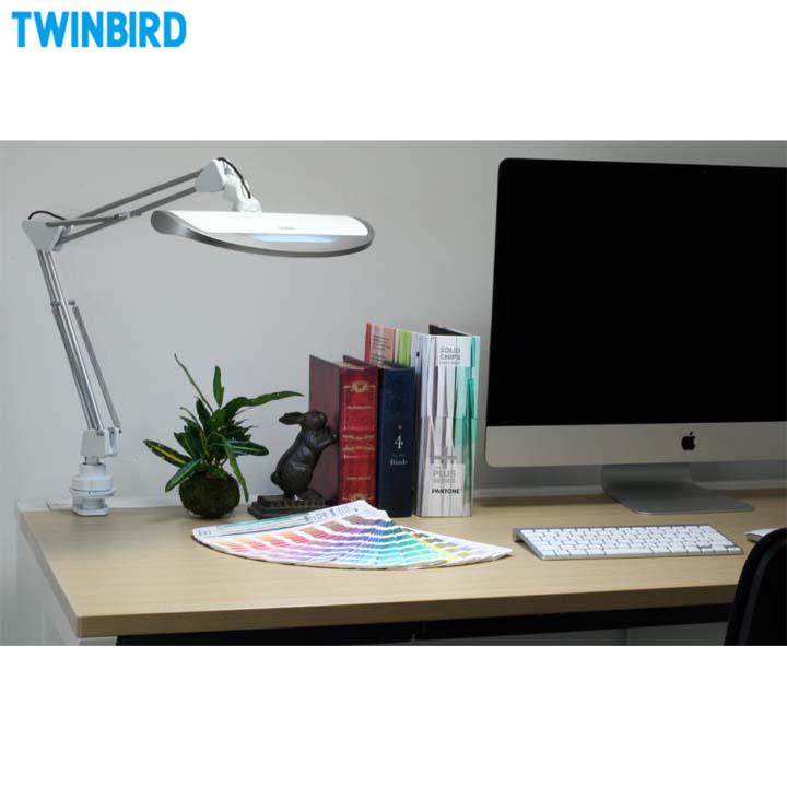 【デスクライト】LEDダブルアームライトREFLECTECH Pro【反射式 無段階調光 演色性90】ツインバード〔TWINBIRD〕 LE-H832W・ホワイト【TW】【TC】【送料無料】