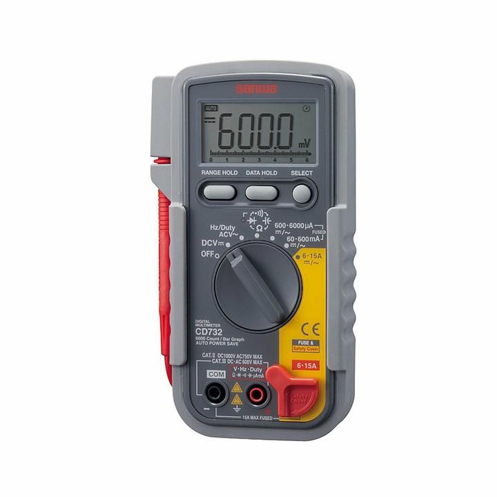 デジタルマルチメータ CD-732 SANWA送料無料 計測器 SANWA 多機能 電圧 電流 電流計測器 計測器電圧 電流 直流/交流対応 コンデンサ 周波数 三和電気計器 【TC】
