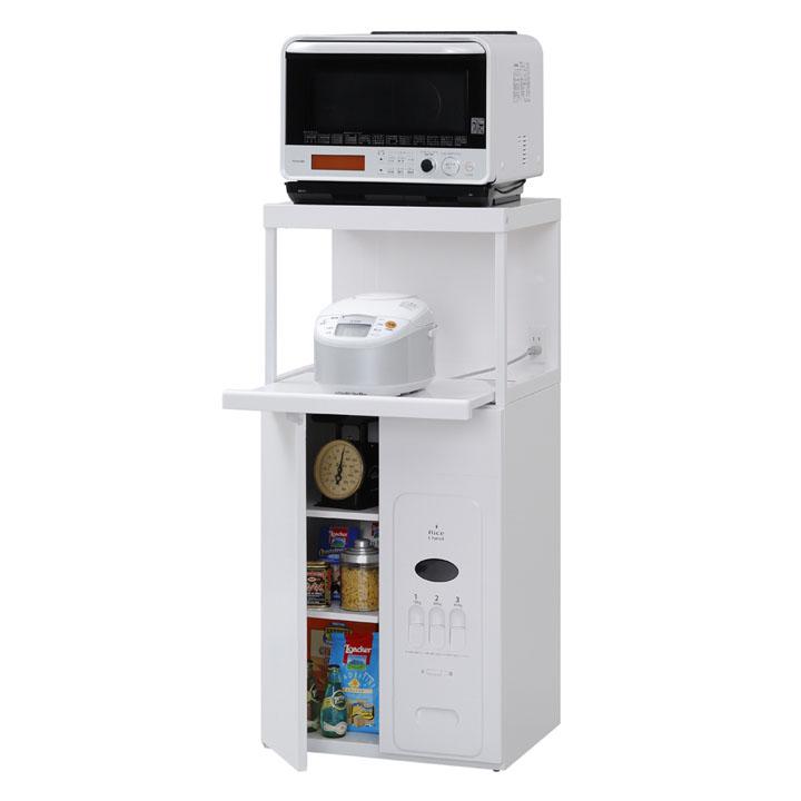 キッチンラック収納 収納キッチンラック ラック キッチンラック CD-304W送料無料 キッチンラック棚 棚キッチンラック ラック棚 収納 ホワイト【TD】 レンジ台(ファインキッチン) 棚 棚ラック