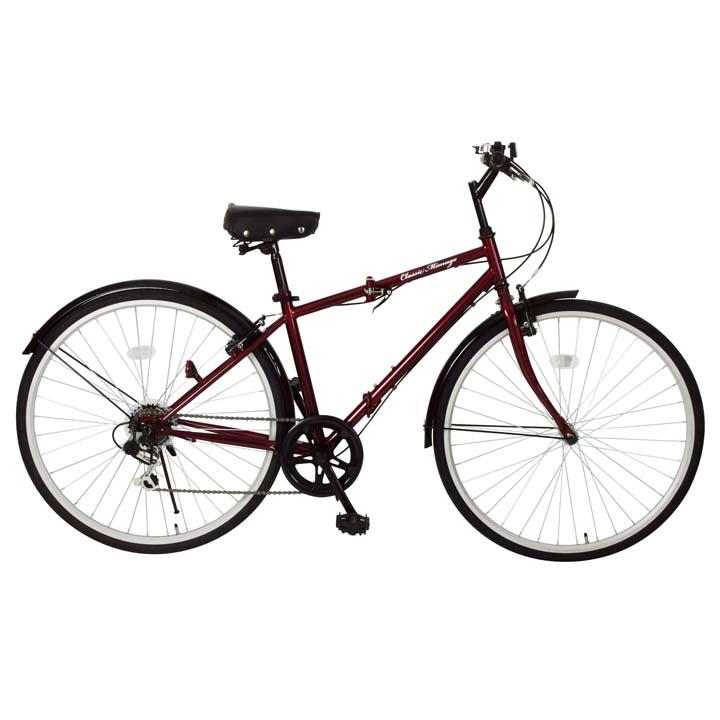 Classic Mimugo FDB700C 6S 折畳クロスバイク MG-CM700C送料無料 自転車 折畳み 折りたたみ 折り畳み サイクル 自転車折りたたみ 自転車サイクル 折畳み折りたたみ 折りたたみ自転車 (株)ミムゴ クラシックレッド【TD】
