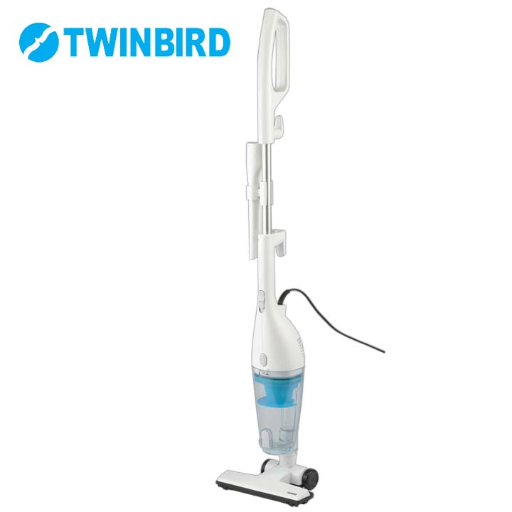 掃除機 実物 サイクロン スティッククリーナー 2WAY TWINBIRD ツインバード紙パック不要 セラミックヒーター搭載 丸洗い ごみ捨て簡単 楽ステ機能 TC-E151W サークルハンドル 自立タイプ 25%OFF コンパクト ハンディクリーナー ホワイト D