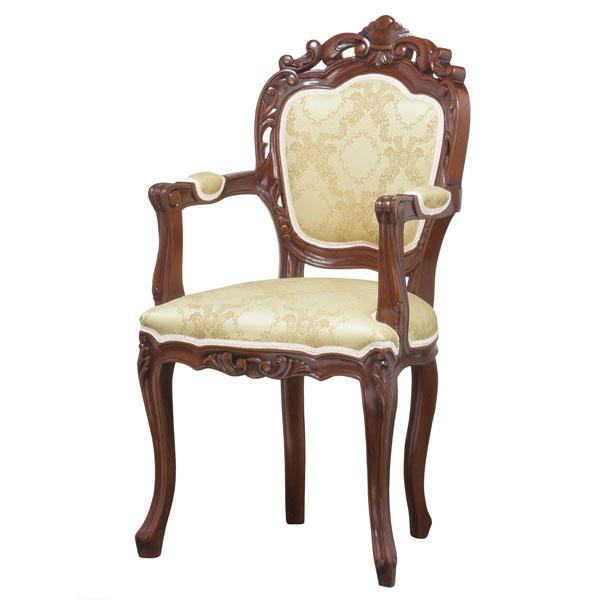 【TD】【西濃運輸】フランシスカ チェアー肘付 90022いす 椅子 チェアー リビング家具 インテリア家具 台座 腰掛【代引不可】【クロシオ】【送料無料】