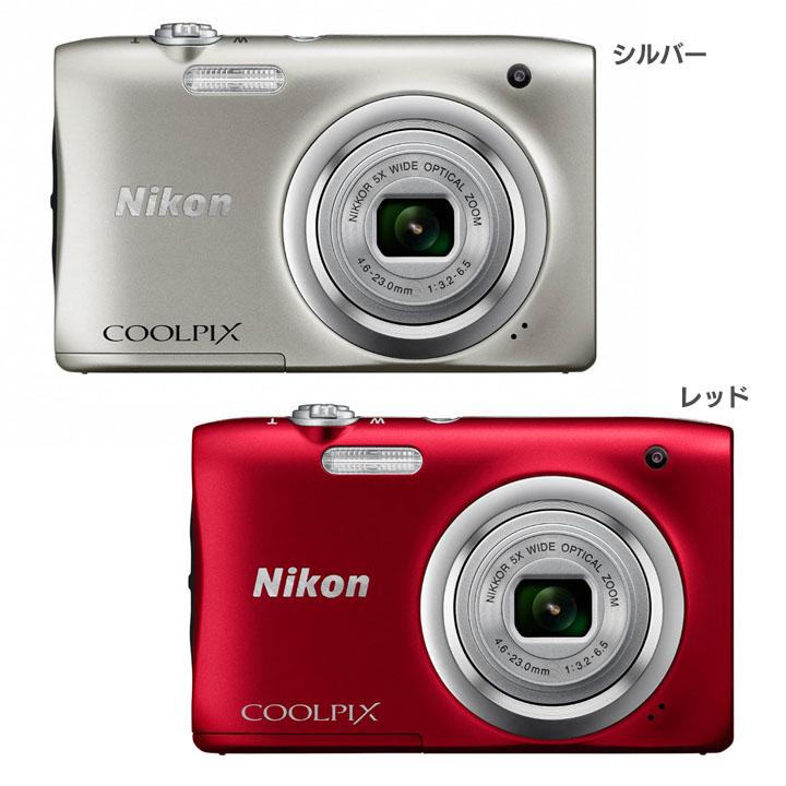 デジタルカメラ ニコン COOLPIX A100SL クールピクス送料無料 デジカメ ニコン カメラ コンパクト デジタルカメラ ニコン シルバー・レッド【D】