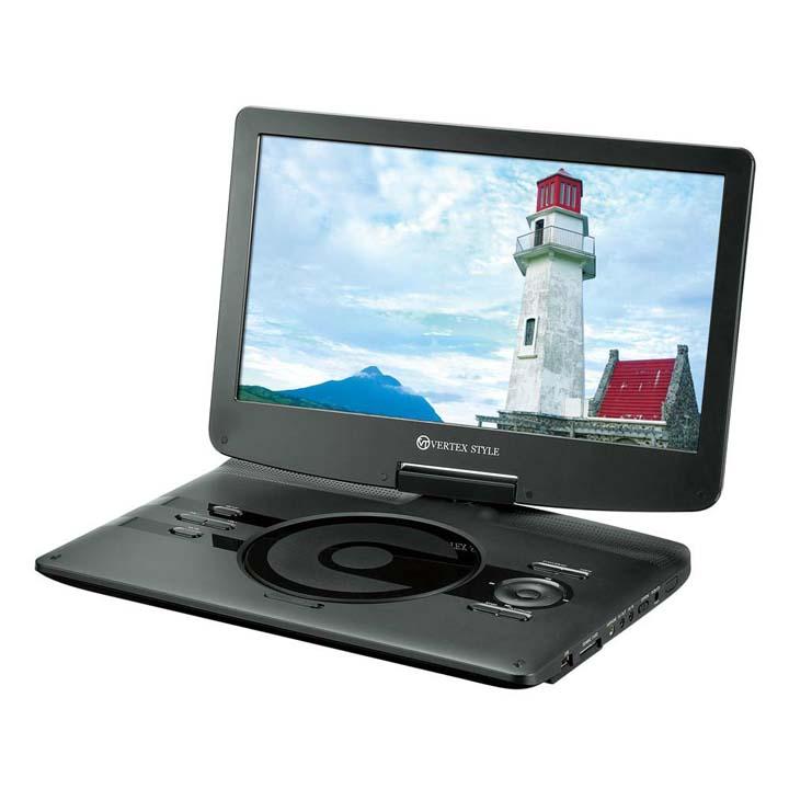 ポータブルDVDプレーヤー ブラック PDVD-V0131送料無料 ディーブイディープレーヤー 再生 持ち運び USB対応 vertex 【TC】