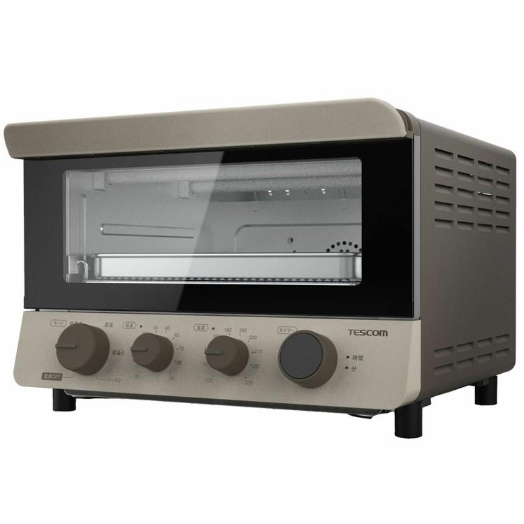 テスコム NEW ARRIVAL コンベクションオーブン オーブントースター コンベクション ディスカウント オーブン レンジ 省スペース ノンフライ 低温調理 タイマー 4枚焼き おしゃれ ドライフルーツ TSF601 乾燥調理 省スペースタイマー設定あり じっくり発酵 D 温度調整可能 石英管ヒーター レシピブック付属