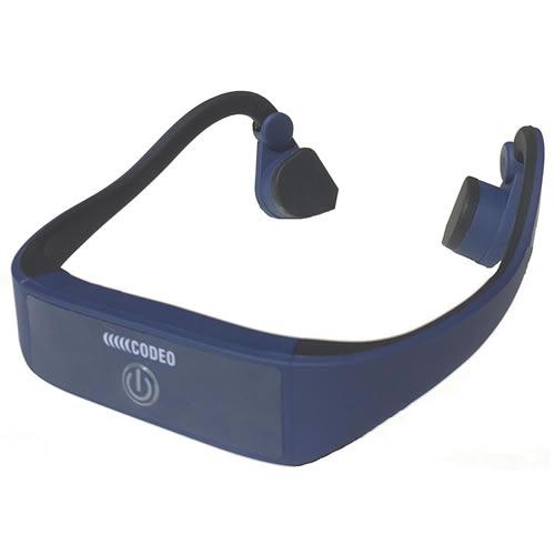 日本コンピュータダイナミクス 骨伝導ワイヤレスヘッドホン CODEO コデオ 紺 CD000003SNGL(快適家電デジタルライフ)