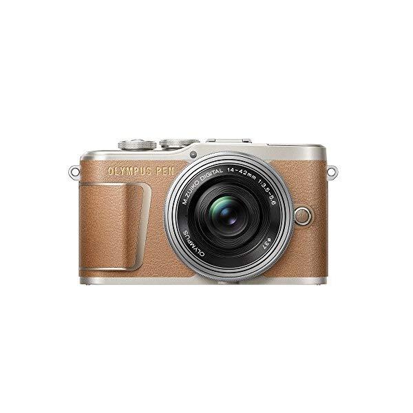 オリンパス PEN E-PL9 14-42mm EZレンズキット ブラウン (快適家電デジタルライフ)