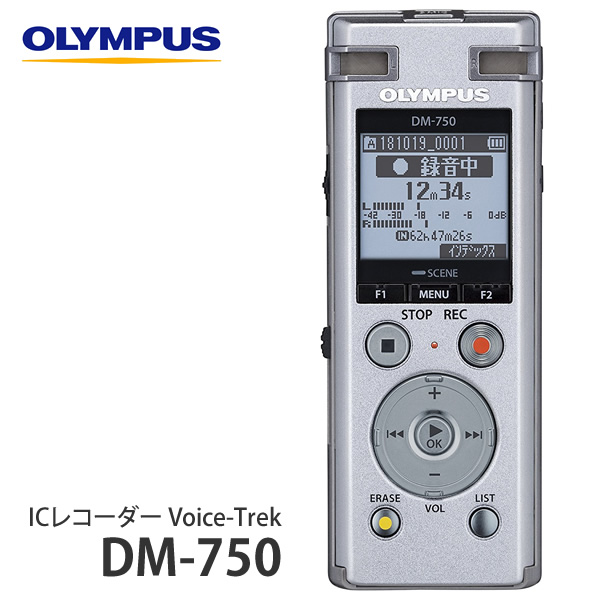 オリンパス ICレコーダー DM-750 シルバー (快適家電デジタルライフ)