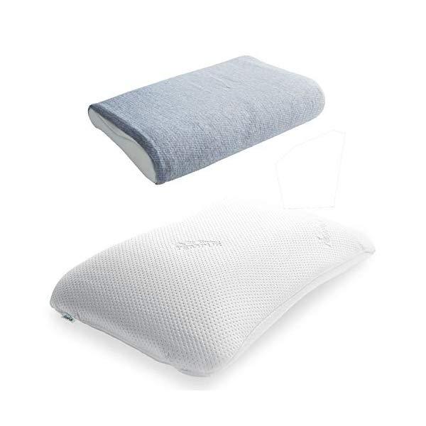 (枕&枕カバーセット) TEMPUR テンピュール シンフォニーピローL & オーガニックコットン (ブルーベリー)(快適家電デジタルライフ)