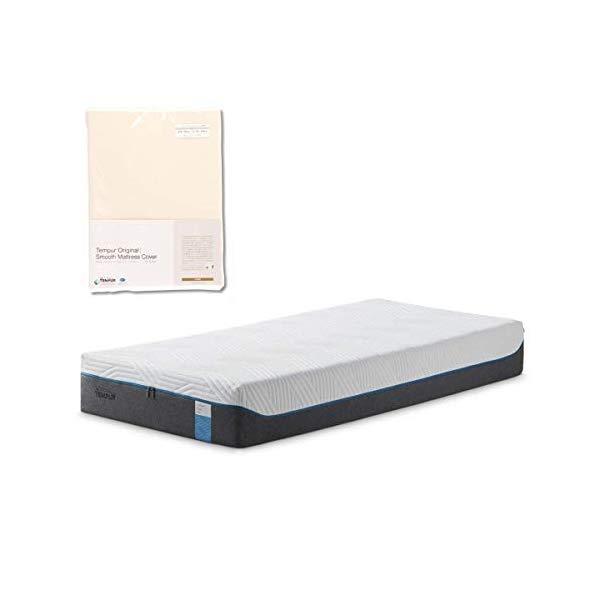 (メーカー直送)(代引不可) TEMPUR テンピュール (マットレス&カバーセット) クラウドエリート25 SD & スムースマットレスカバー (アイボリー) (ラッピング不可)(快適家電デジタルライフ)
