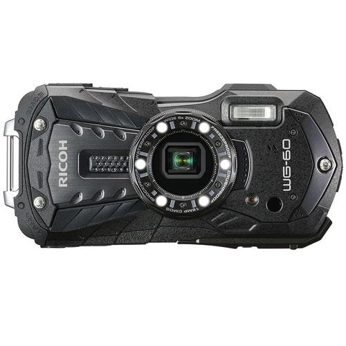 リコー RICOH WG-60 ブラック 防水・防塵・耐衝撃・防寒 デジタルカメラ(快適家電デジタルライフ)