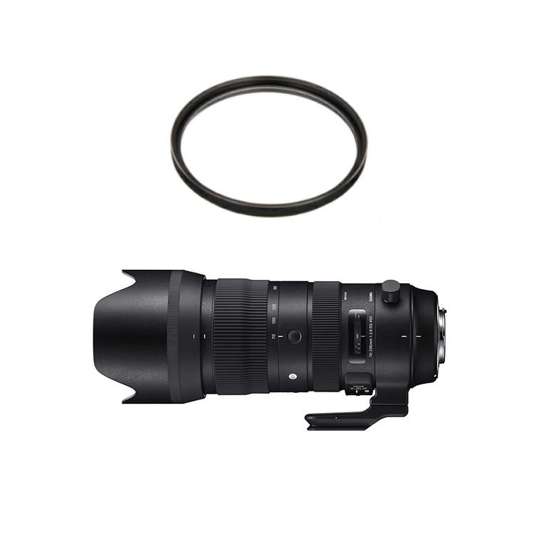 SIGMA シグマ 70-200mm F2.8 DG OS HSM (S) ニコン用 大口径望遠ズームレンズ (レンズフィルターセット)(快適家電デジタルライフ)