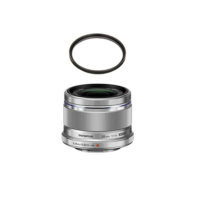 【レンズ保護フィルター付】 オリンパス 大口径標準レンズ M.ZUIKO DIGITAL 25mm F1.8 シルバー 【マイクロフォーサーズ用】【快適家電デジタルライフ】