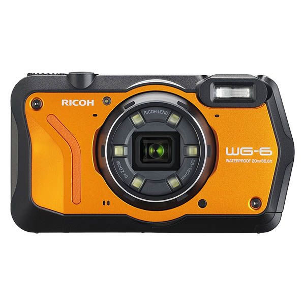 (発売未定) リコー (RICOH) 防水・防塵・耐衝撃・防寒 デジタルカメラ WG-6 オレンジ(快適家電デジタルライフ)