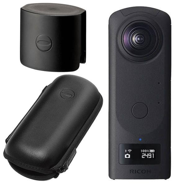 (発売未定)RICOH リコー デジタルカメラ THETA Z1 (レンズキャップ&セミハードケースセット)(快適家電デジタルライフ)