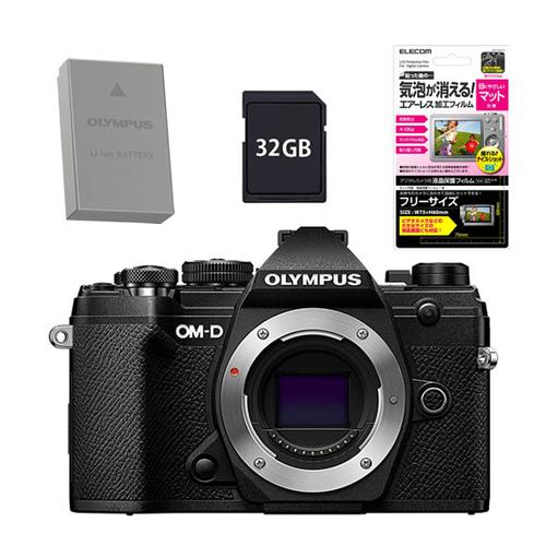 オリンパス OM-D E-M5 MarkIII ボディー ブラック BLK (予備バッテリー&SD32GBセット)(快適家電デジタルライフ)