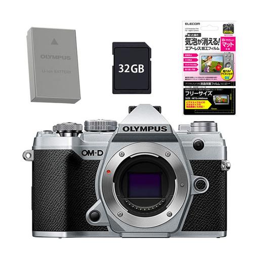 オリンパス OM-D E-M5 MarkIII ボディー シルバー SLV (予備バッテリー&SD32GBセット)(快適家電デジタルライフ)