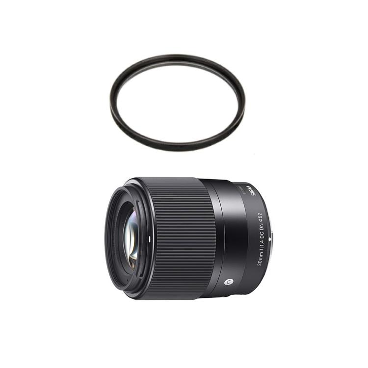 (レンズ保護フィルター付) シグマ 30mm F1.4 DC DN (C) ソニーEマウント用 標準レンズ (快適家電デジタルライフ)
